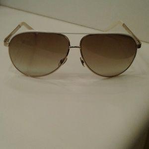 Gucci - Aviator Metal Sunglasses - Womens